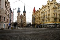 Wandering the outskirts of Prague on a rainy winter day. Here there were not so many tourists