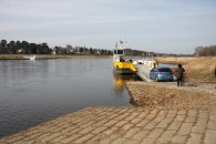 Taking the ferry across the Elbe to get home again