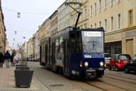 the soviet-style tram in Görlitz