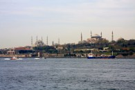 Our first view of the Golden Horn district, seen from the ferry