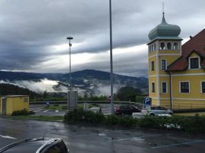 Beautiful drive in the rain from Vienna to Graz