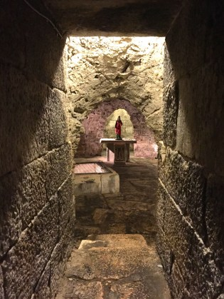 The crypt under the 7th century Cathedral of St Domnius