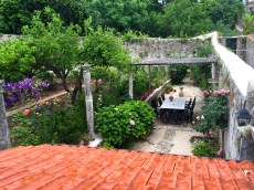 Here's the beautiful garden at the rental home in Dubrovnik