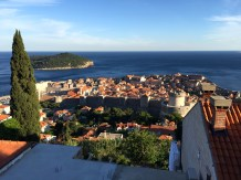 A view of old Dubrovnik from the hillside above