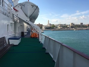 Arriving in Bari, Italy in the morning to see water with a significantly lighter hue