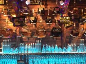 """Fill your own custom liquor bottles"" was a popular theme at the tourist shops in Innsbruck"