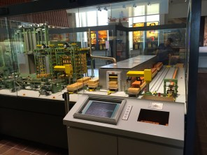 A working miniature brick making factory. I bought a finished brick for 1 euro