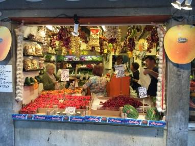 Colorful market in Venice