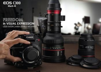 """แคนนอน เผยโฉมกล้องภาพยนตร์ระบบดิจิตอลรุ่นใหม่ Canon EOS C300 Mark III พร้อมเลนส์ในตระกูล """"CINE-SERVO"""""""