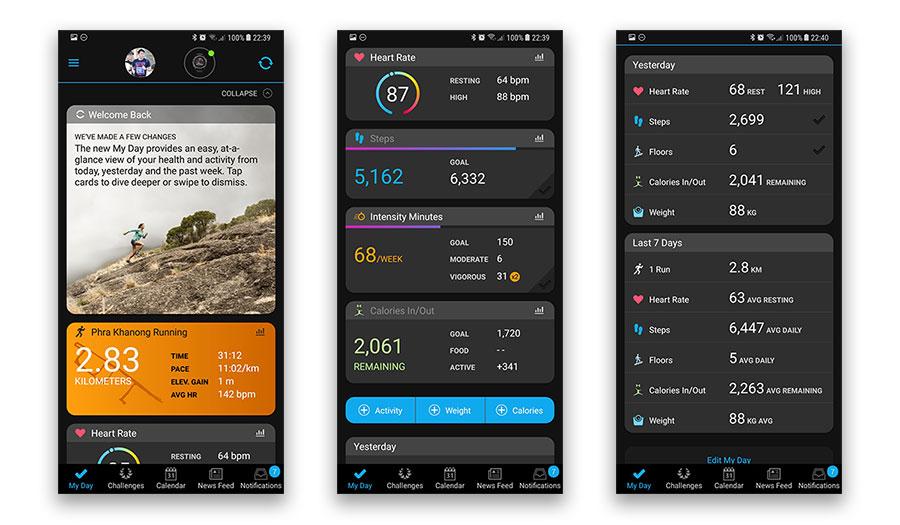 Garmin Connect อัพเดทเวอร์ชัน หน้าตาเปลี่ยนใหม่ สวยงามขึ้น