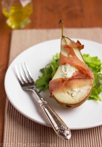 pear prosciutto goat cheese