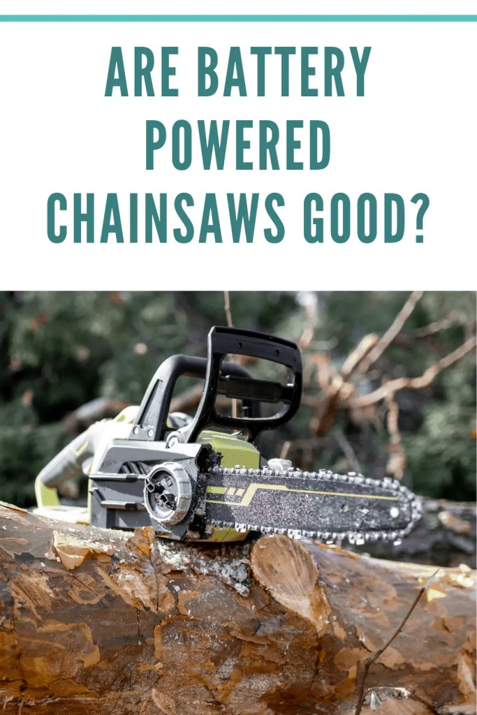 battery powered charinsaw