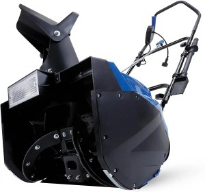 snowjoe corded electric snow blower with light