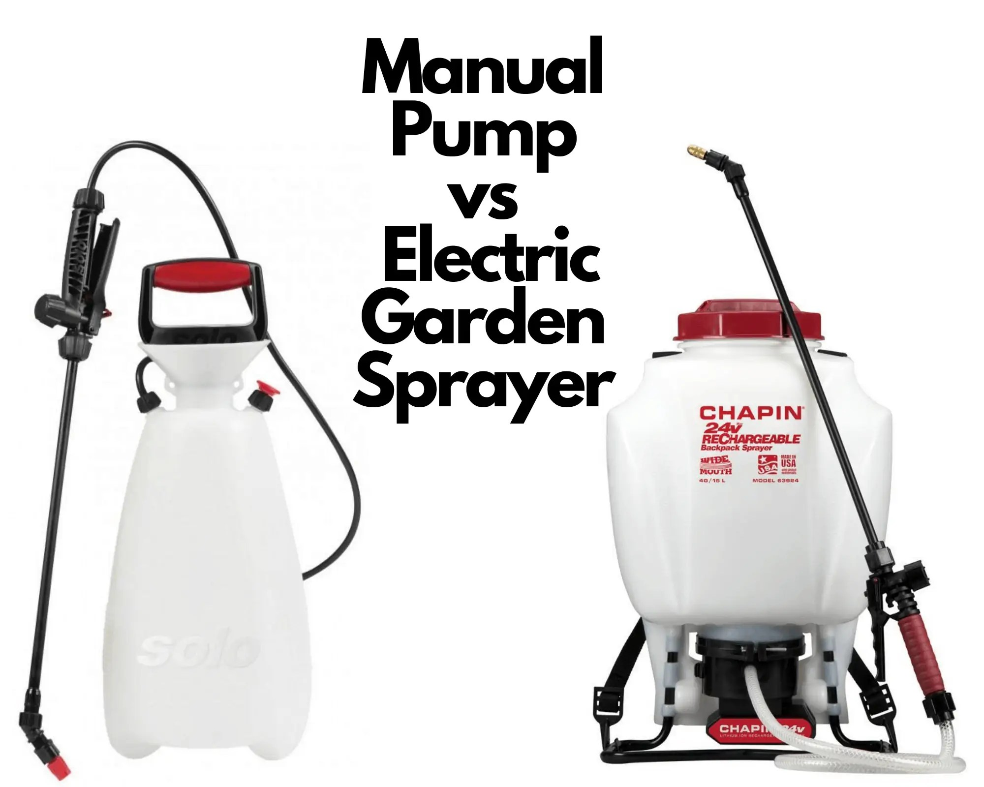 Manual vs Electric Sprayer