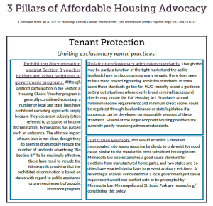 3 Ps of Affordable Housing Advocacy