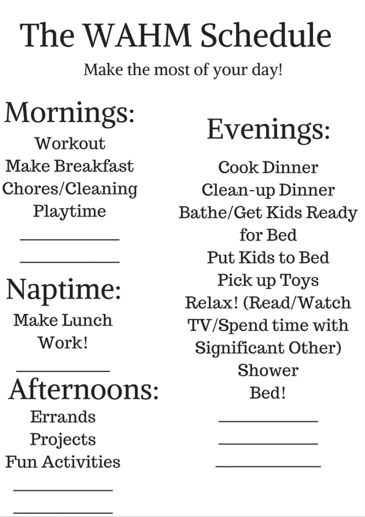 the-wahm-schedule