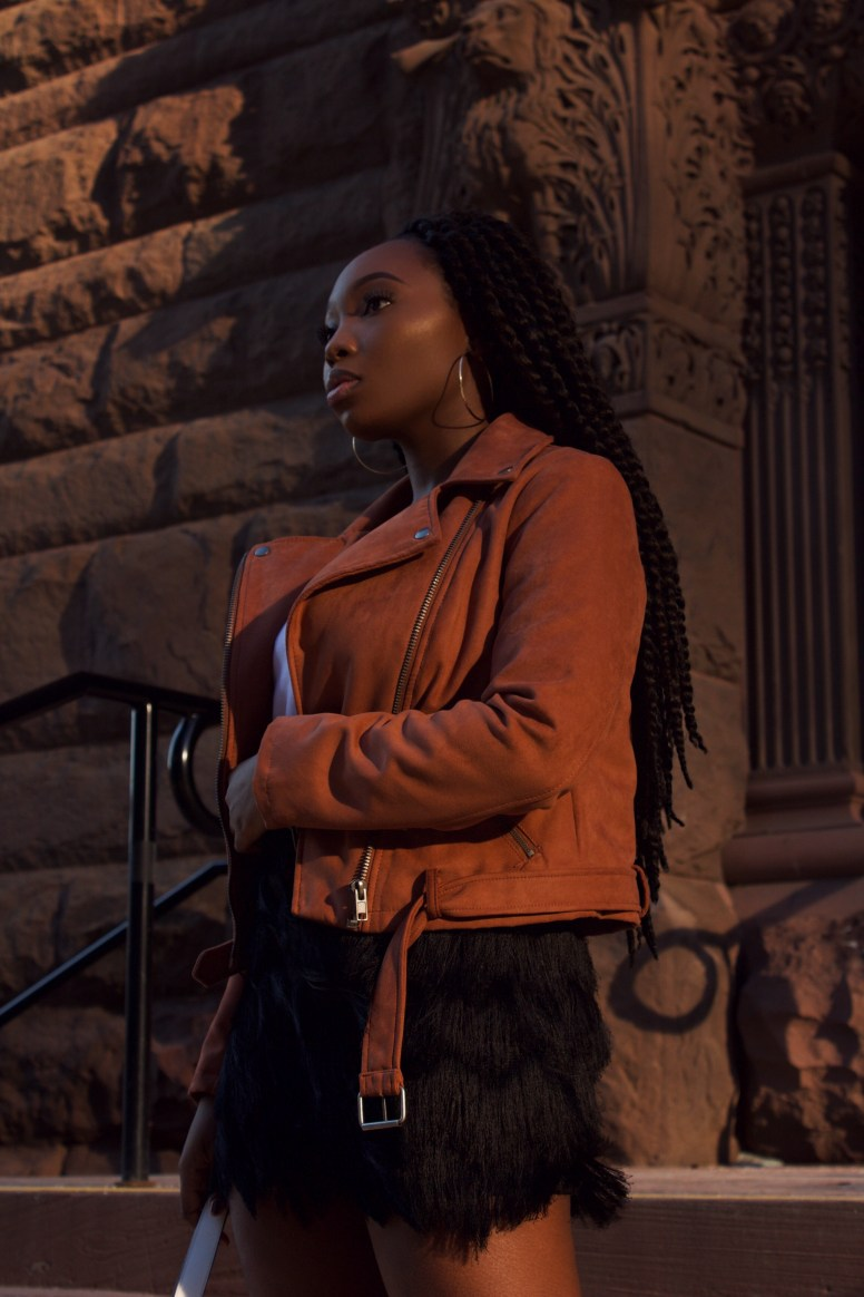 The Suede Biker Jacket | The Alma Chronicle
