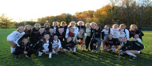 Soccer teams celebrate their seniors