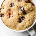 Chocolate Chip Pecan Mug Cake The Almond Eater