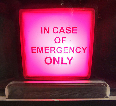 A big red emergency button