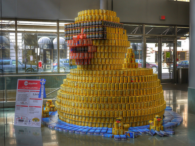 Canstruction Duck