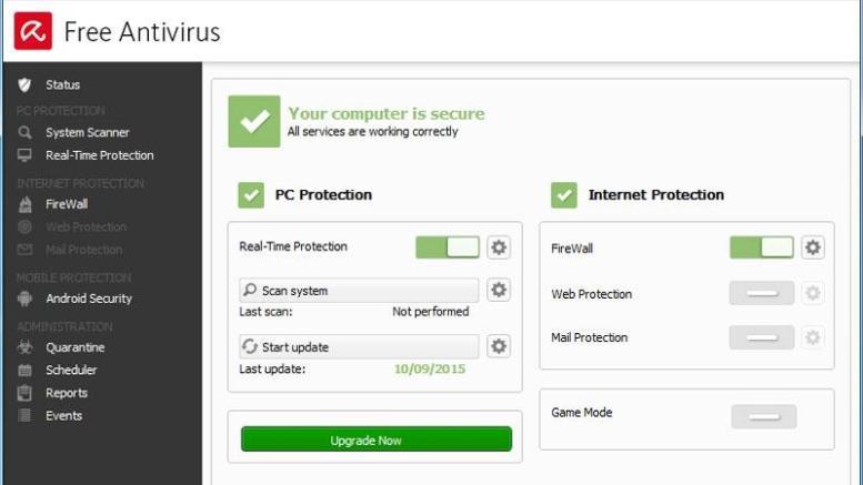Best free antivirus software for 2016