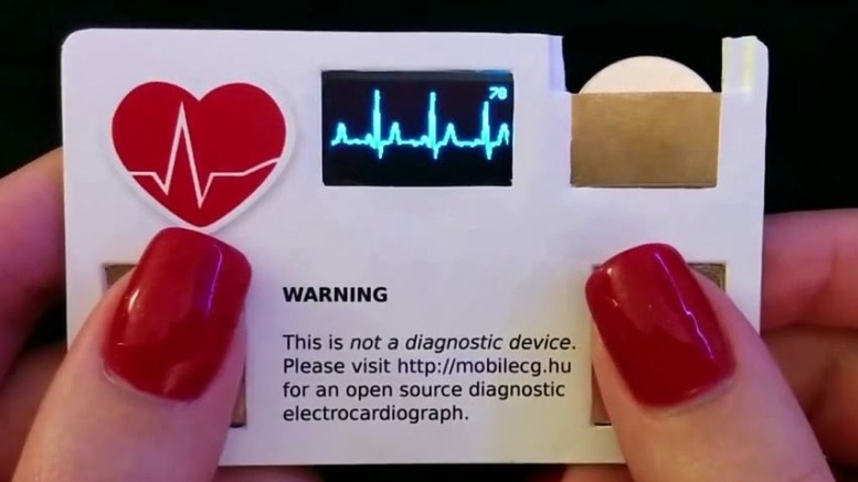 Business card with ECG Display
