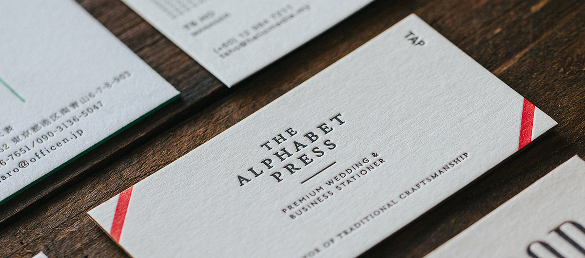 The Alphabet Press (TAP) - Contemporary Letterpress Stationer