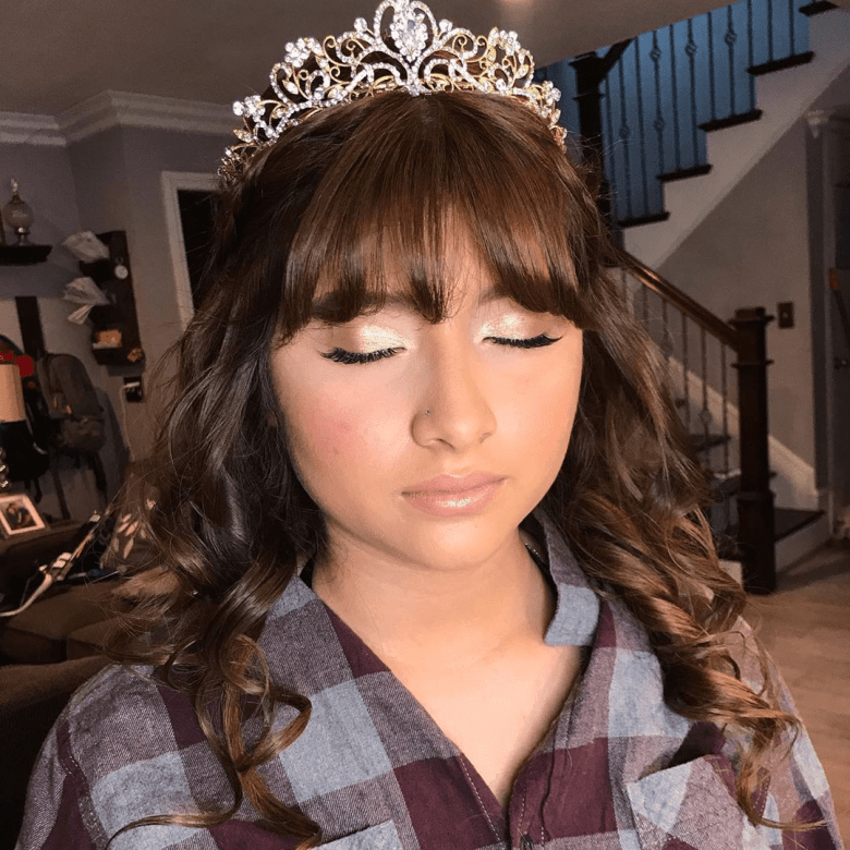 Open Hair with Bangs