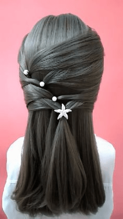 Crisscross in straight Hair