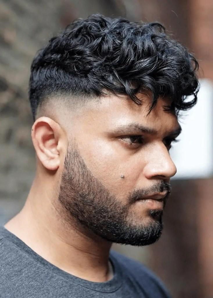 Wavy hair with drop Fades