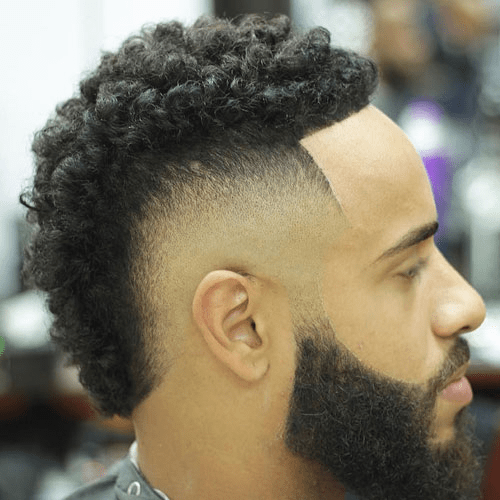 Drop fade with a Curly Top