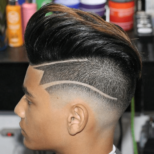 Comb over Hairstyle with Drop Fade