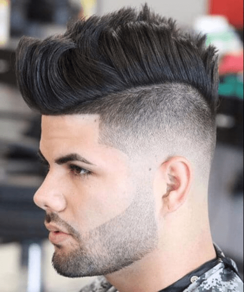 Low Drop Fade with Mohawk Haircut