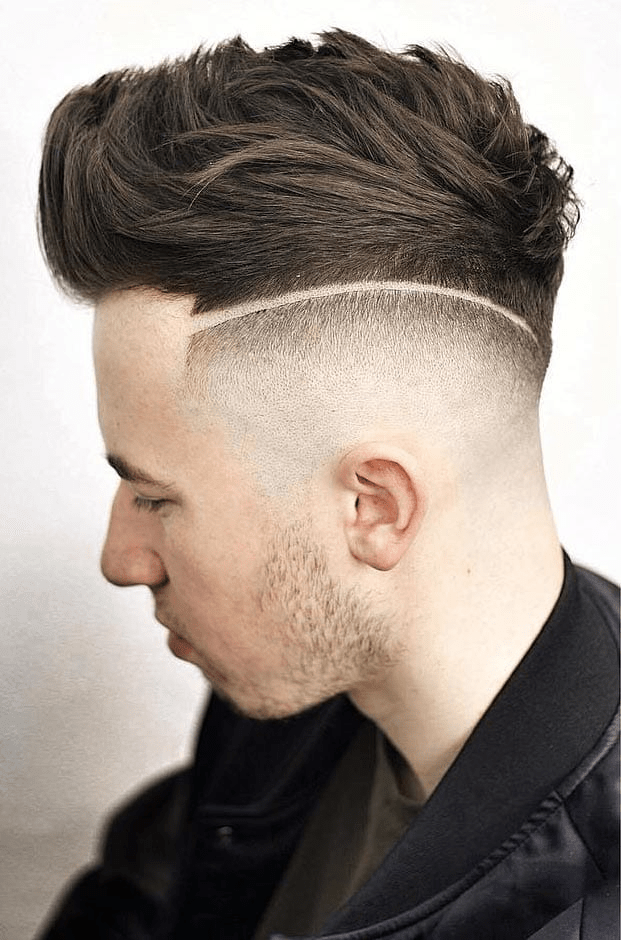 The Disconnected Low Drop Fade Haircut