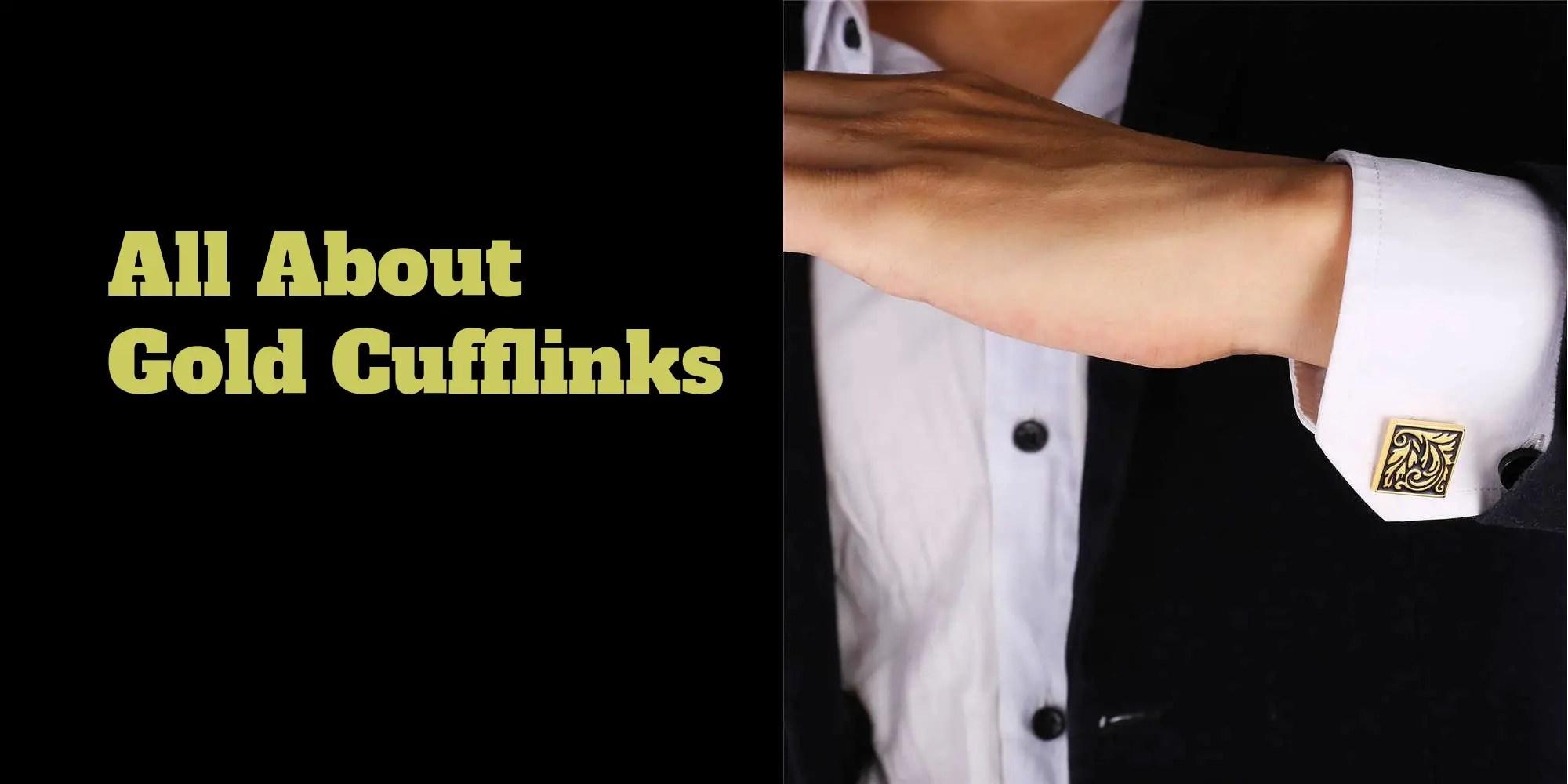 All About Gold Cufflinks
