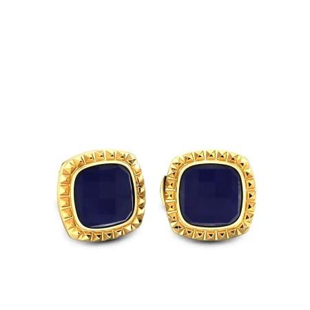 Gold cufflinks with gemstone