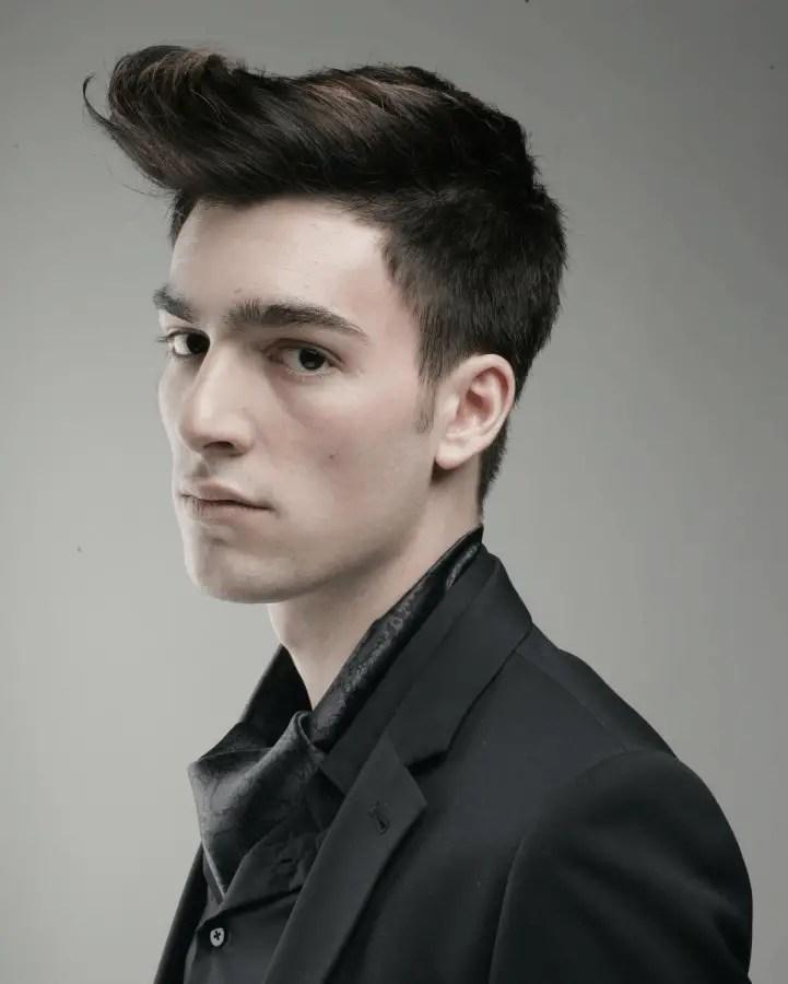 Windblown hairstyle