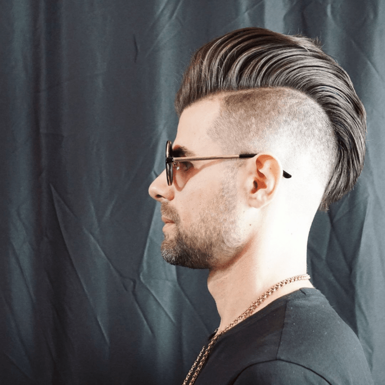 Shaved side hairstyle