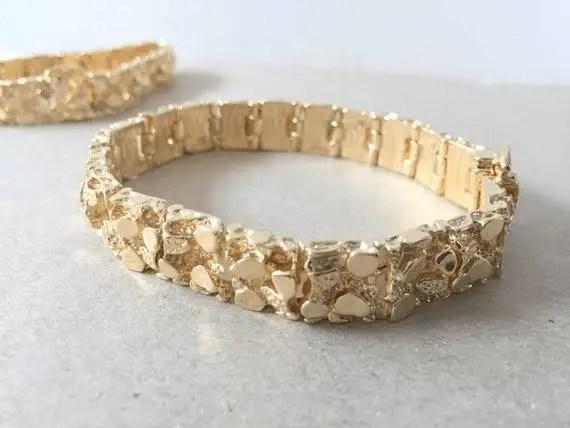 Men's Gold Nugget Bracelet