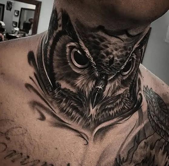 Owl Tattoo Stencil