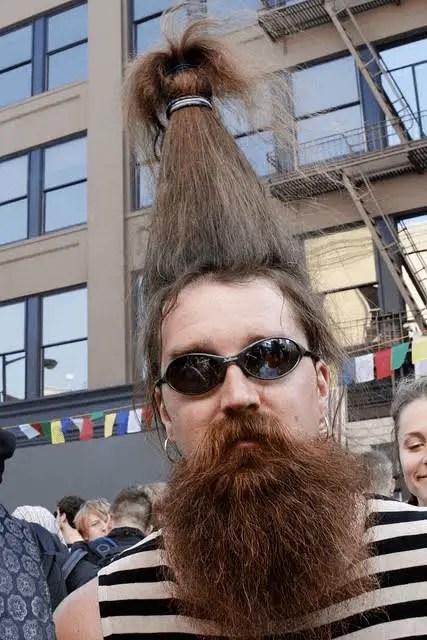 Long Hair Crown Ponytail