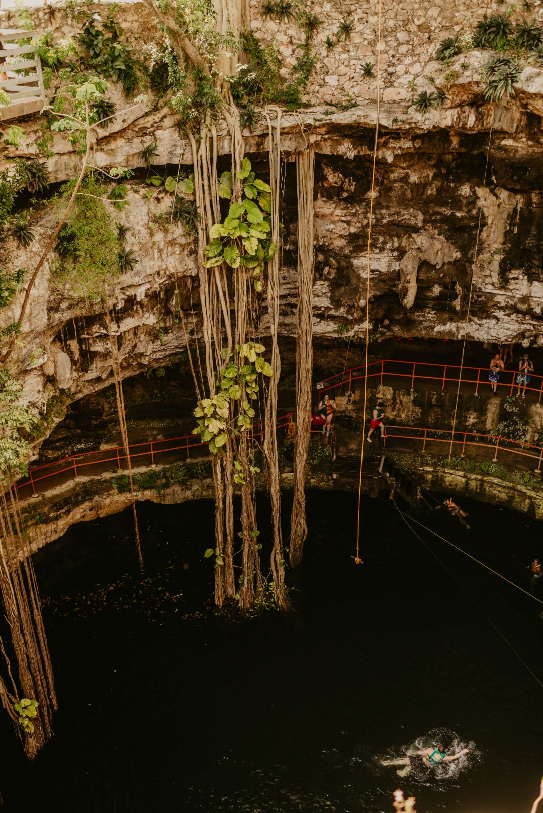 Oxman Cenote is perfect for adventure
