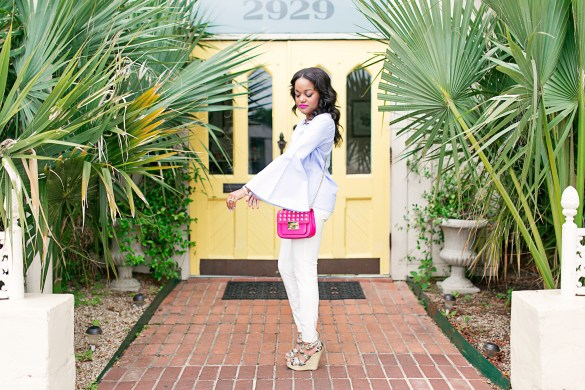 ZARA BELL SLEEVE TOP, HOW TO WEAR BELL SLEEVE TOP, BRUNCH ATTIRE