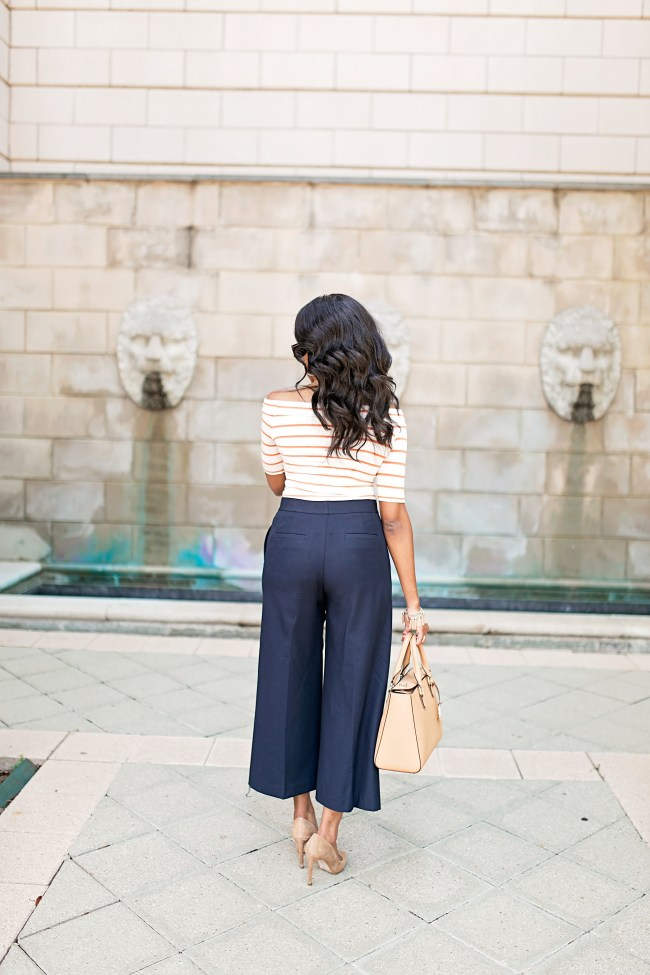 HOW TO WEAR CULOTTES, ANN TAYLOR WIDE LEG PANTS, WORKWEAR FASHION, WHAT TO WEAR TO WORK, DALLAS BLOGGER