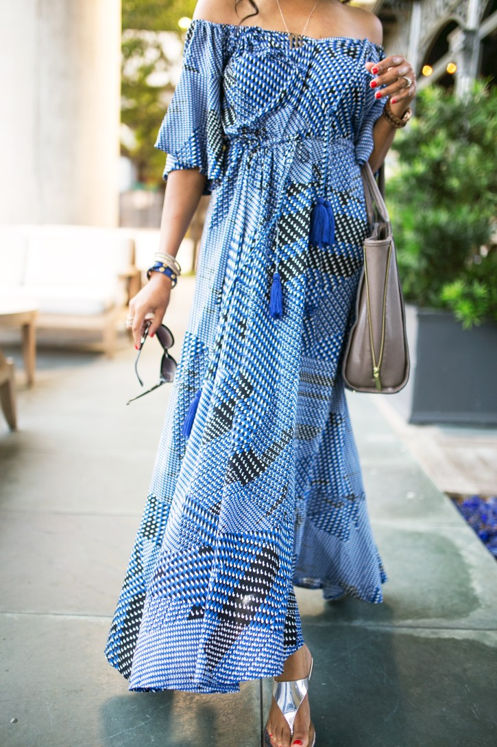 SheIn, maxi dress, perfect maxi dress, off shoulder maxi dress, maxi dress outfit, casual maxi dress, what to wear to brunch, dallas blogger, fashion blogger, black girl blogger
