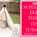 diy teepee tent tutorial, easy teepee tent, no sew teepee tent, no tools teepee tent tutorial, kids teepee tent, dallas blogger, teepee tent youtube