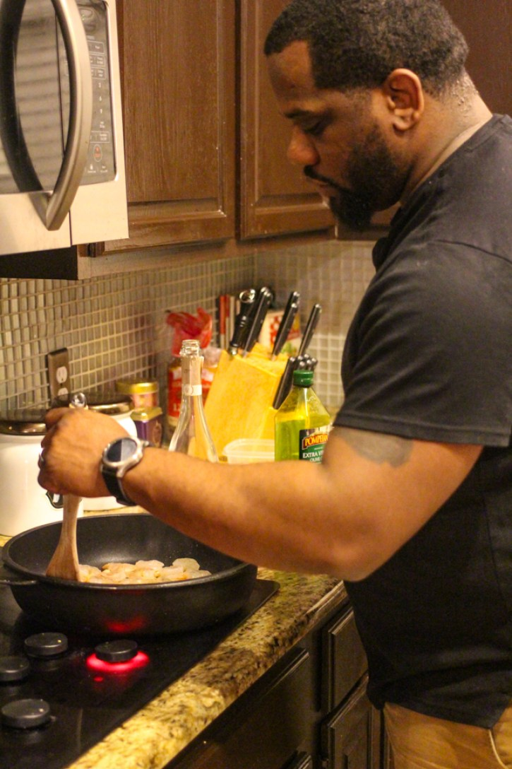 date night at home, couples cooking together, date night ideas, black love, dallas blogger, fashion blogger, easy recipes