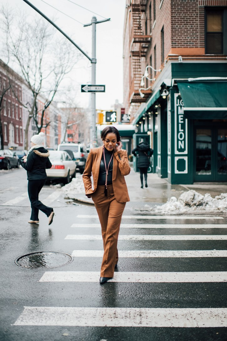 zara suit, how to wear a suit, how to style a suit, how to wear a bralette with a suit, new york fashion week, nyfw street style, dallas blogger, fashion blogger