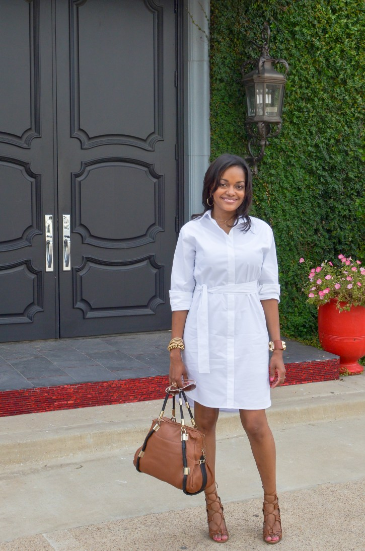 white shirt dress, closet remix, j crew factory shirt dress
